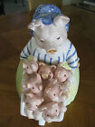 FITZ & FLOYD Prunella the Pig and Piglets Cookie Jar 1989