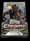 2013 Topps Chrome Football Hobby Box - Factory Sealed