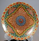 Multi Color Imari Style Porcelain Decorative Plate With Geometric Design