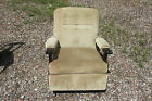 Vintage Sage Celadon Green Velvet Rocking Chair Rocker Dark Wood