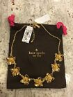 NWT  Kate Spade Gold Flowers Bloomspot Necklace - Perfect Christmas Gift!