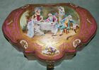 SEVRES  A GOOD19 C  FRENCH    LG  CASKET HAND-PAINTED  FIGURINES