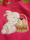 APPLIQUED EASTER BUNNY CANVAS BAG WITH EMBROIDERED NAME
