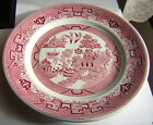 ONE 9.5-INCH SHENANGO PINK WILLOW PLATE by SHENANGO CHINA, NEW CASTLE, PA.