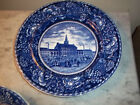 ANTIQUE American Historical Staffordshire**PLATE**Independence Hall/Dark Blue