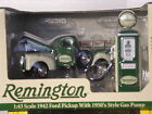 Remington 1942 Ford Pickup,with Crate Load, 50's Gas Pump Pre Production Sample