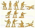 WWII Toy Soldiers Matchbox German Afrika Korp 15 Figures 1/32 Timpo Airfix Type