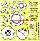 WILL N WAY Clear Stamps FLOWERS and FRIENDS Flowers Two Friends 25 Stamps