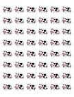 48 CUTE FARM COW ENVELOPE SEALS LABELS STICKERS 12 ROUND