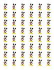 48 MICKEY MOUSE ENVELOPE SEALS LABELS STICKERS 12 ROUND