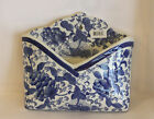 Blue and White Wall Letter Holder Ironstone 4 Available