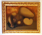 Remo FARRUGGIO 'Mother Earth' Signed Oil On Canvas Authentic Vintage 1970s