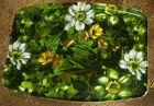 Vintage Mid-Century Modern Floral FIBERGLASS SERVING TRAY Very Large 21