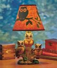 Collections Etc Woodland Owl Table Lamp W/ Silhouette Shade Sculpted Home Decor