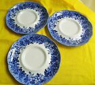 Romantic England Anne Hathaway's Ironstone J. G. Meakin 3 PCS Saucers BLUE/WHITE
