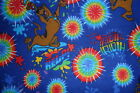 Scooby Doo Help Tie Dye Snuggle Flannel Fabric Rare and Out of Print by the yard
