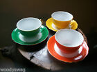 Retro Gold Castle Japan Cup and Saucer lot of 3 vintage Beautiful colors 1950's