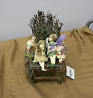 DEZINE Fairies Fairy Display ~ Wood Stick Chair w/ 2 Fairies