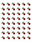 48 RED ROSE ENVELOPE SEALS LABELS STICKERS 12 ROUND