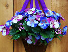 Spring Summer Wreath Country LAVENDER PANSY FLORAL DOOR WALL WREATH DECOR