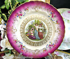 MITTERTEICH PINK BAVARIA GERMANY HANDPAINTED MAIDENS PORTRAIT PLATE