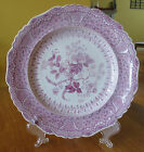 Lovely Antique Staffordshire Purple Transferware Plate Ridgway Asiatic Plants