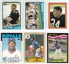 6x RC~BO JACKSON 1986/1987/1988 Topps_ROOKIE CARD LOT~86~87~88~ALL-STAR~PRO BOWL