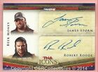 James Storm - Robert Roode - 2010 TriStar TNA Icons Dual Autographs Gold #A24 AU