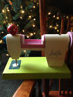 Little Lot Sewing Machine Made in Japan White Pink Green Vintage Rare