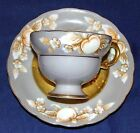 American Beauty Hand Painted Occupied Japan Cup and Saucer Gold
