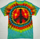 ORIGINAL Hand Dyed Small Peace Sign T-Shirt BOTH SIDES Tie Dye Tye Die hiPpie