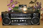 Fisher Stereo ph-w464 Speakers Dual Cassette Tape Player Recorder AM/FM Boombox