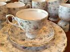 VINTAGE TUSCAN PINK CHINTZ DESSERT BREAKFAST SET 44 PCS DUBARRY ROSE XLNT+