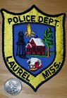 LAUREL POLICE PATCH MISSISSIPPI MS oil well steer corn house sheriff constable