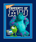 3 Yards Cotton Fabric- Springs Disney Monster's University Mike Sully Panel SALE