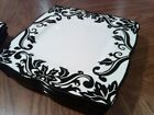 Set of 8 222 Fifth Muse Black Floral Scroll 11