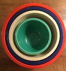 Vintage Nested Fiesta Ware Mixing Bowls Set Of 4, Mixed Colors 30's