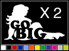 2 Go Big Fat Trucker Girl Decals Sticker Jdm Vinyl Funny Mx Snowmobile Mudflap