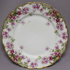 Vintage LIMOGES FRANCE ELITE WORKS Porcelain Cabinet Plate Purple Violets
