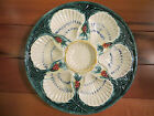 Vintage Oyster Plate Platter Unmarked Sea Shell Green 1950's 1960's