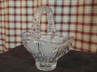 Anna Hutte Bleikristall German Made Crystal Basket 24% PbO Roses Etched in Glass