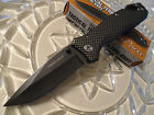 Timber Wolf Tactical Terrain Carbon Fiber Black Wash Rescue Pocket Knife 8 1/4