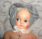 Adorable Vintage Stuffed Doll With Plastic Face, Really Sweet-- Please Adopt!