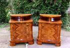 Art Deco Bedside Cabinets, Pair of Nightstands. Genuine 1920s Vintage Tables.