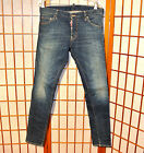 DSQUARED2 SLIM SKINNY POCKETS FADED FADED RARE VINTAGE JEANS PANTS 31 32 46 48