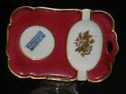 Vintage Ceramic Porcelain Bavaria Germany Cigarette Tray 24k Gold Trim Tirschenr