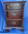 Antique Kling Chippendale Chest 3-Drawer Mahogany/Cherry Solid Gorgeous!