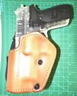 Front Line LKC40PL BR LH Brown Leather Paddle Holster Suede Lined SIG SAUER P226