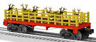 LIONEL # 1887 Christmas Flatcar with Reindeer o gauge holiday train 6-819