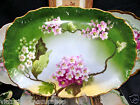 LIMOGES FRANCE HANDPAINTED TRAY FLORAL ARTIST SIGNED